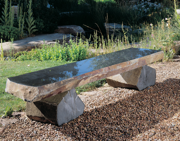 Beautiful Stone Outdoor Benches