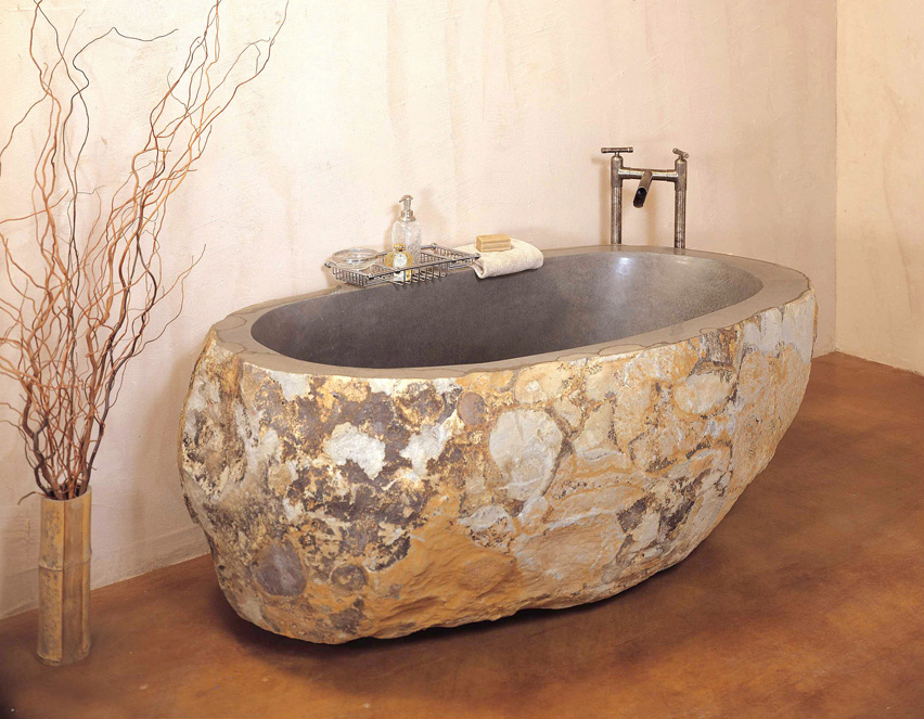Styleture notable designs functional living spacesthe for Tub materials