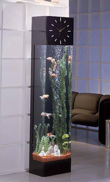 Styleture notable designs functional living spacesman caves are heating up this winter - Fish clock aquarium ...