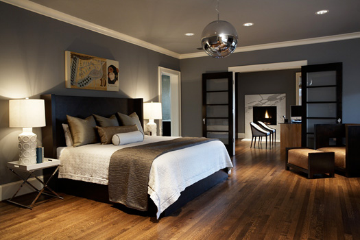 Master Bedroom With Great Chandelier