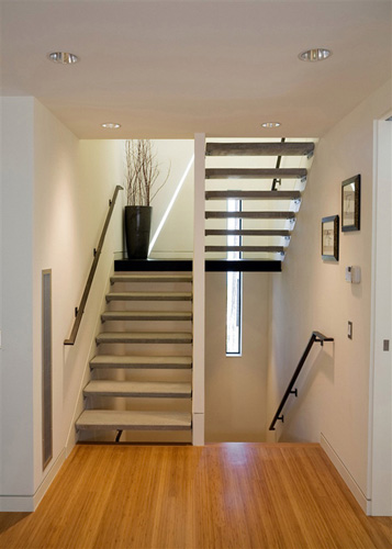 Stairs with custom railings