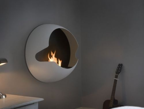 Vauni Cupola Wall Mounted Fireplace