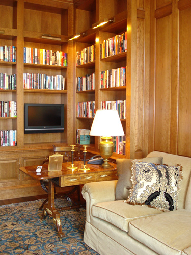 Custom New Jersey Home Library Design