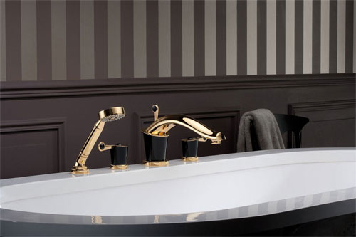 THG Roman Tub Set in Black Obsidian