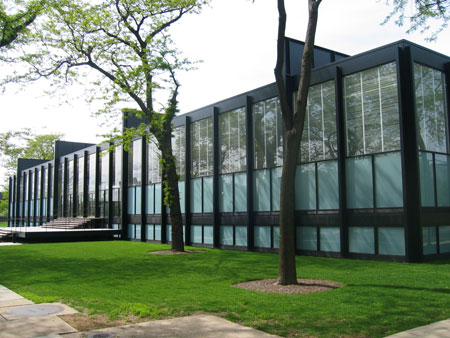 Crown Hall at the Illinois Institute of Technology, Chicago, Illinois