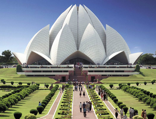 Notable Architecture. Lotus Temple in New Delhi