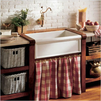 "The Herbeau ""Luberon"" Fireclay Farm House Sink"