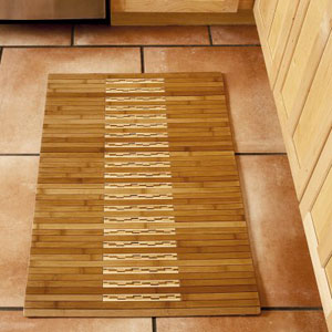 The Anji Mountain 2′ × 3′ Bamboo Kitchen/Bath Mat