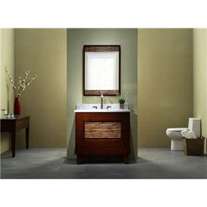 "The Xylem Bambu 36"" Vanity in Dark Bamboo"
