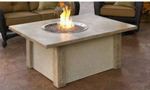 The Outdoor GreatRoom Mocha Fire Table Fire Pit