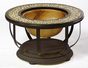The Alfresco Home Umbria Fire Pit Chat Table