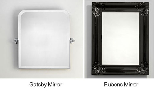Rectangular Over Mirror Light In Matt Nickel Or Polished Chrome: Styleture » Notable Designs + Functional Living